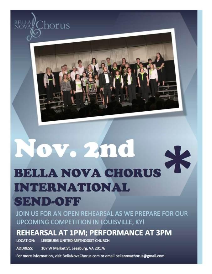 Bella Nova sendoff flyer